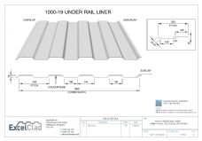 ExcelClad 1000-19 Under Rail